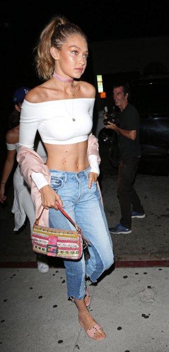 Bella and Gigi Hadid arrive at The Nice Guy lookingstylish