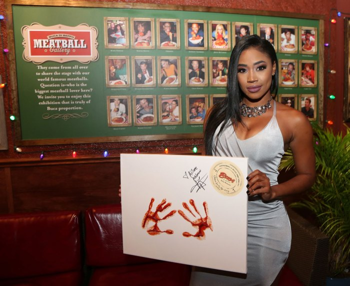 Ariane Andrew Celebrates Her Birthday At Buca di Beppo At The Original Farmer's Market With Signature Handprints Ceremony