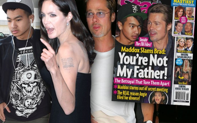 Brad Pitt Angelina Jolie Divorce Son Maddox Fight 1