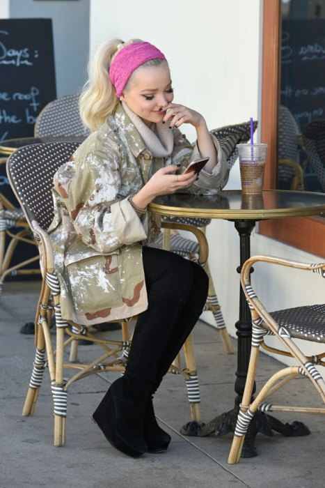 Dove Cameron Leaving Lunch With Her Manager