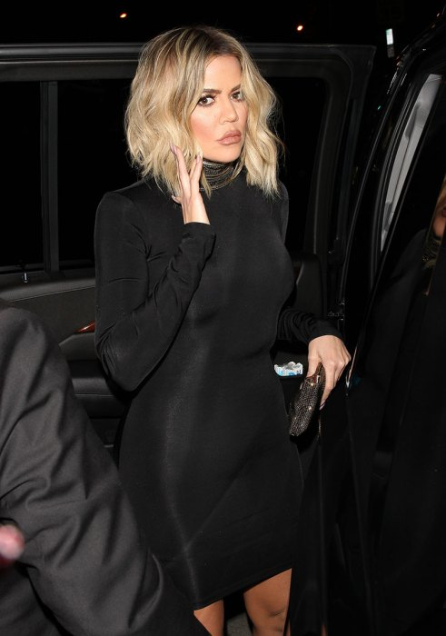 Khloe Kardashian arrives at Catch restaurant to celebrate Kendall Jenner's 21st birthday