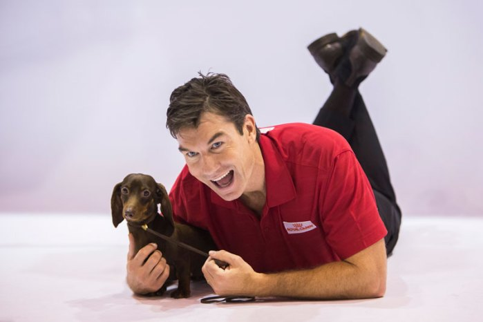 Jerry O'Connell Filming of the AKC National Championship Dog Show presented by Royal Canin on HallmarkChannel