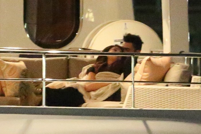 *PREMIUM EXCLUSIVE* The Weeknd and Selena Gomez have a very steamy date on a yacht **MUST CALL FOR PRICING**
