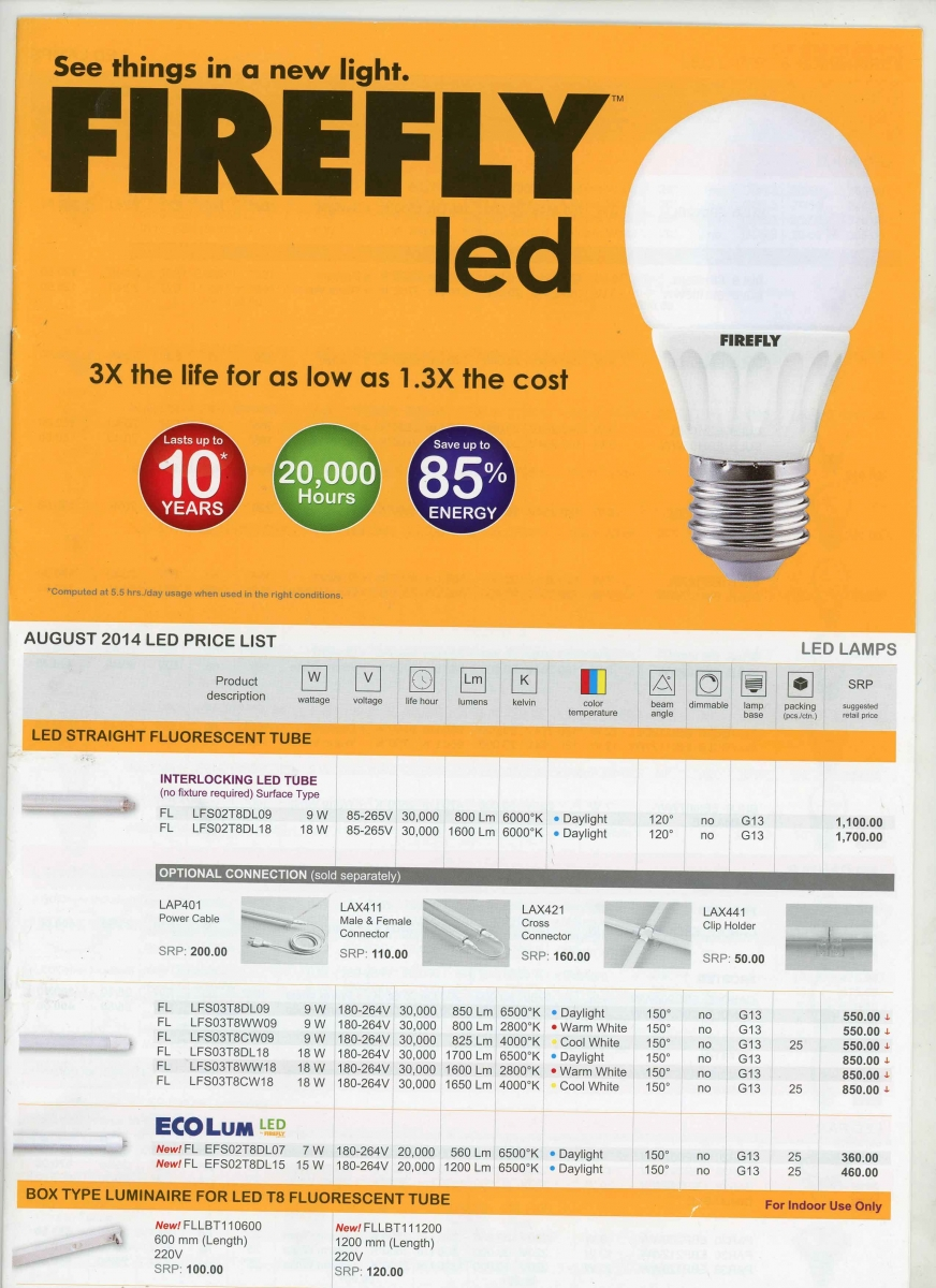 Led Lighting Prices Firefly