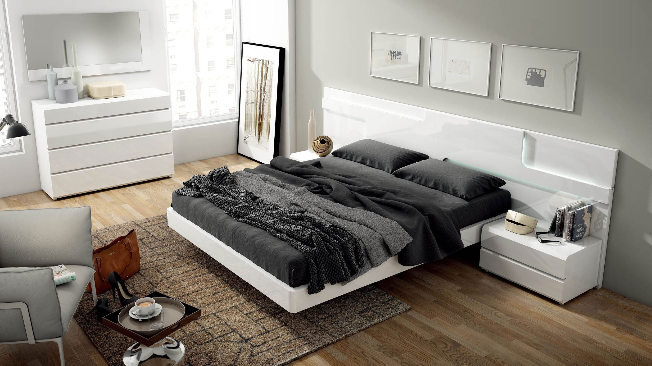 Sara Modern Italian Bedroom Set N Star Modern Furniture