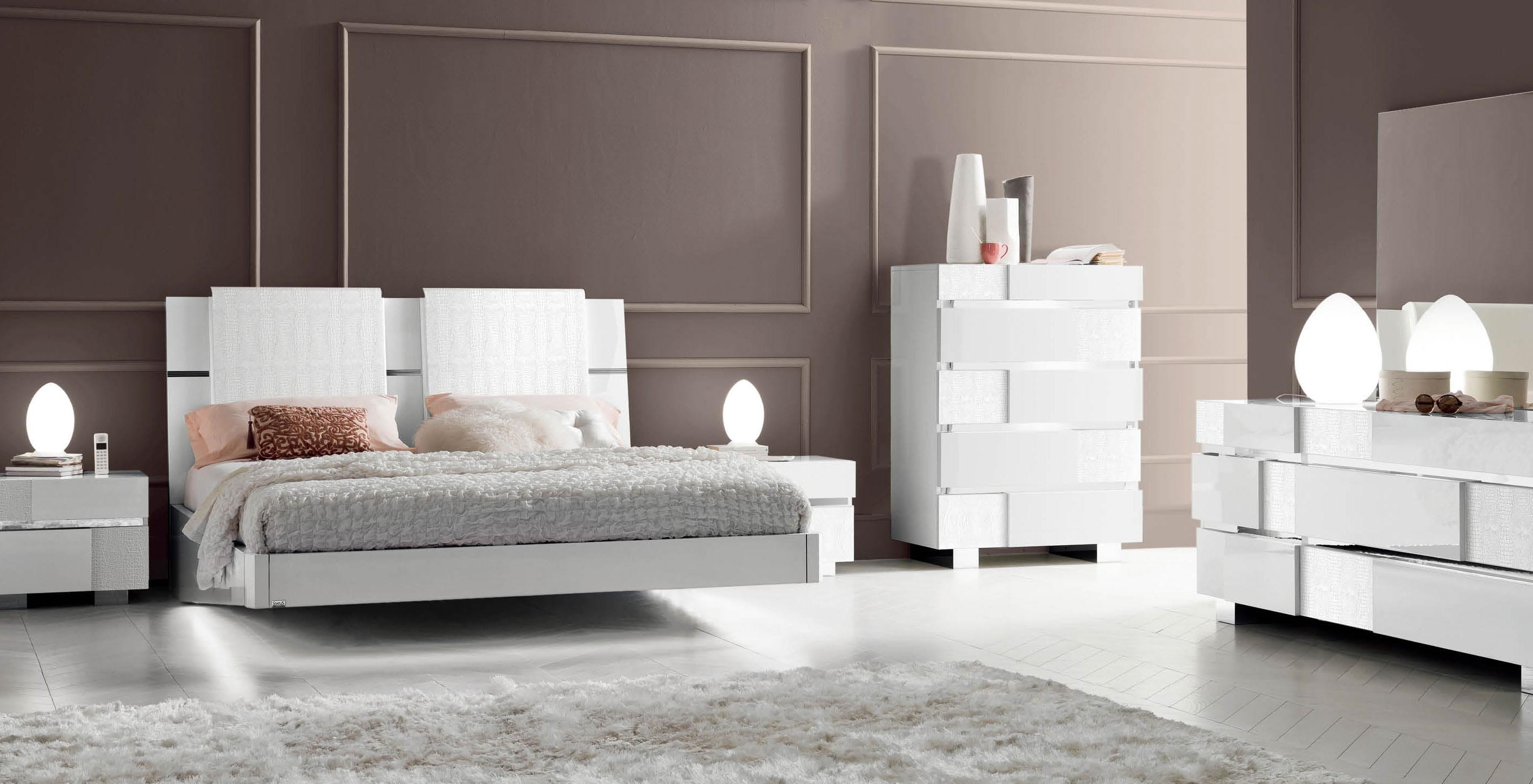 Italian Furniture Toronto Caprice White Modern Italian Bedroom Set N Star Modern