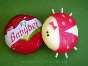 Cute Babybel Cheese Ladybug