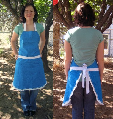 DIY Apron Tutorial Finished