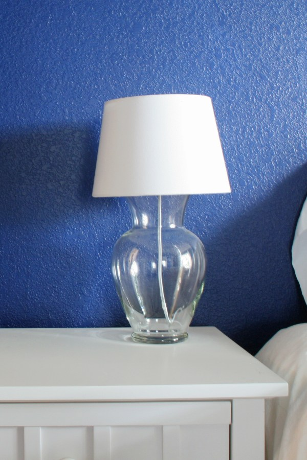 DIY glass vase lamp pottery barn knockoff empty