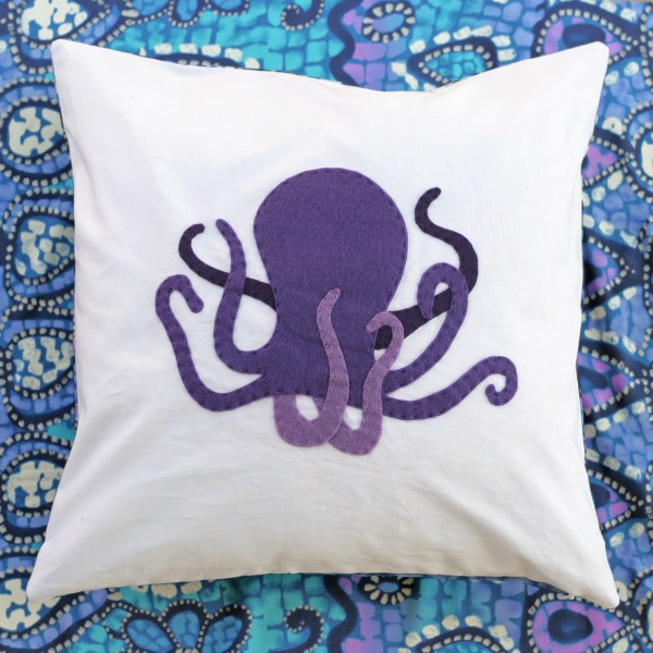 Felt octopus pillow