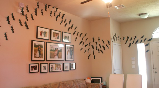Paper Bats Halloween Decor