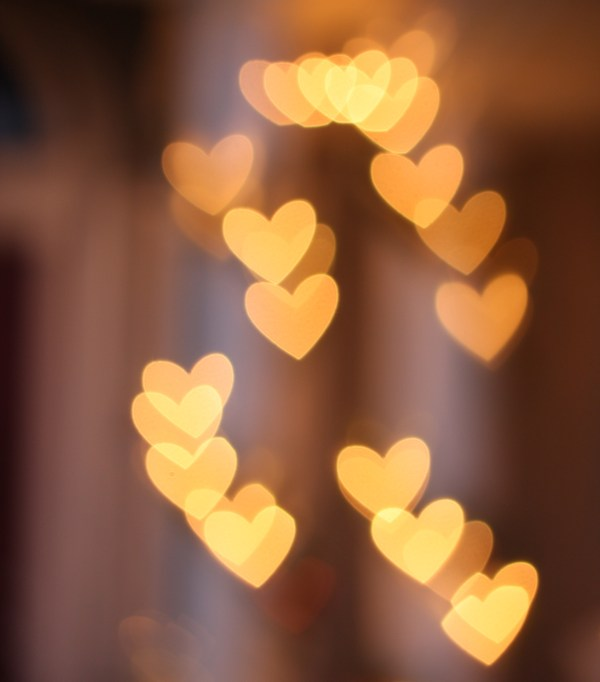 Christmas Light Heart Bokeh