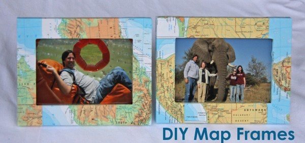 DIY Map Frames