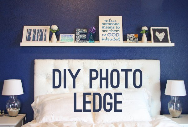 DIY Photo Ledge Tutorial