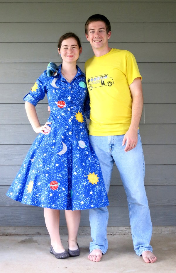 Mrs. Frizzle and Magic School Bus Halloween Costumes