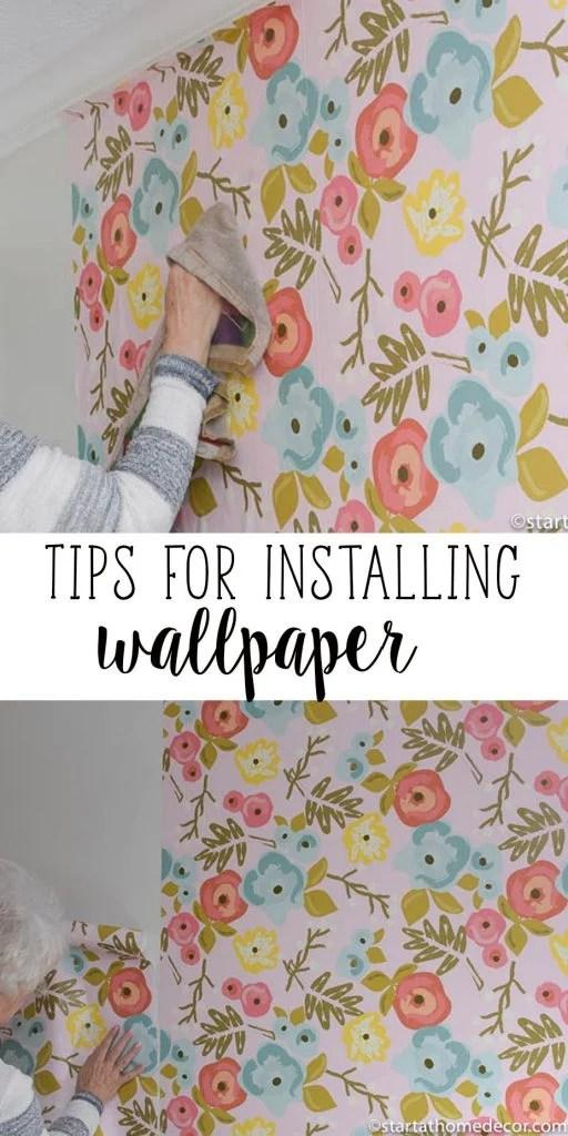 Tips For Installing Wallpaper | Start At Home Decor