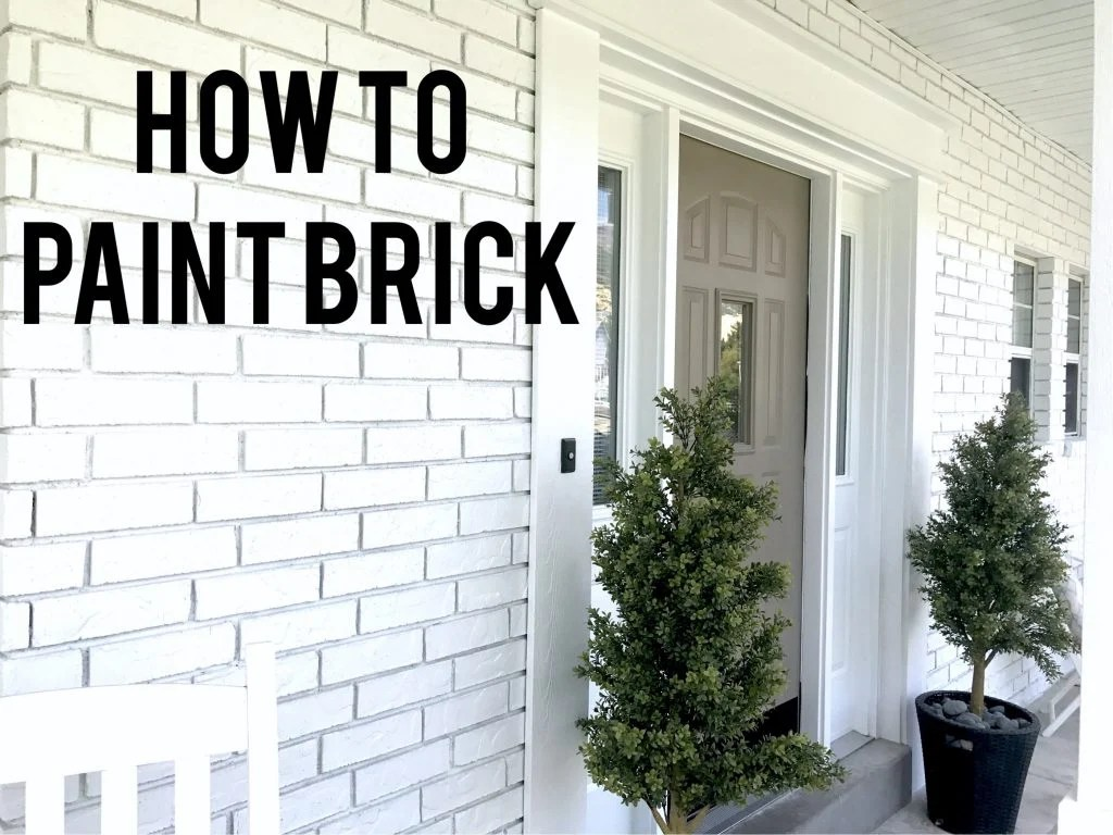 Exterior Home Decor How To Paint Exterior Brick Like A Pro Start At Home Decor