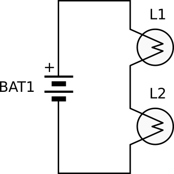 circuit diagram two bulbs
