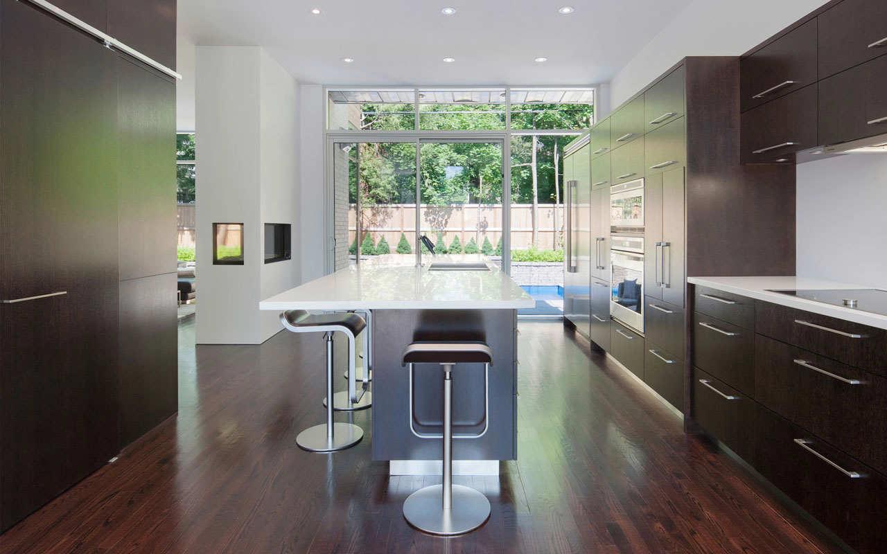 Cucine Legno Scuro Moderne | Cucine Moderne Con Pavimento Scuro ...