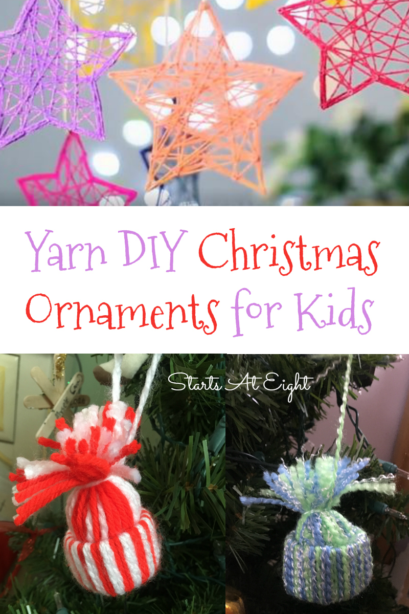Diy Christmas Ornaments Yarn Diy Christmas Ornaments For Kids Startsateight