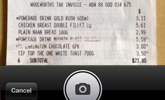 Pocketbook Mobile Photo Receipt
