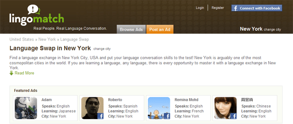 Language Swap New York - Lingomatch - Featured on StartUpLift