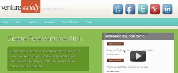 venturesocially.com - startup featured on StartUpLift
