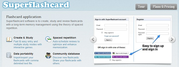 SuperFlashcard - StartUp featured on StartUpLift for website feedback
