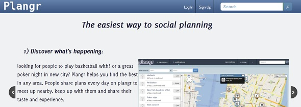 Plangr - StartUp featured on StartUpLift for website feedback and Startup Feedback