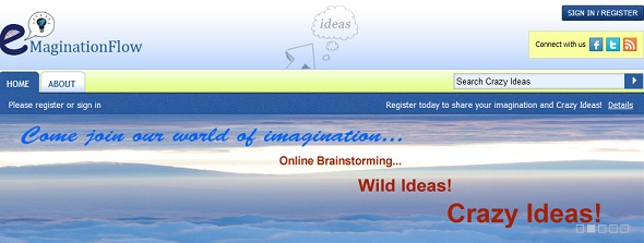 eMaginationFlow - crazy ideas - startup featured on StartUpLift for website & startup feedback