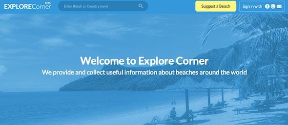 ExploreCorner - startup featured on startuplift for website feedback & startup feedback