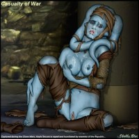 Aayla Secura has lost fight to siths and was punished not with their lightsabers but their cocks!