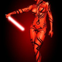 Sometimes Darth Talon prefers practicing with her lightsaber absolutely naked!
