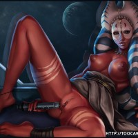 Phat-breasted Shaak Ti test new space magic vibrator