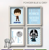 Baby Boy Star Wars Nursery Art- Boy Room Decor-BR001