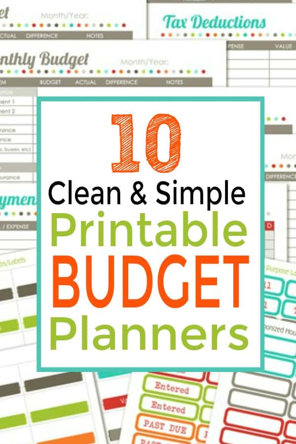 Free Printable Budget Planners Budget Binders Stashing Dollars - budget planning