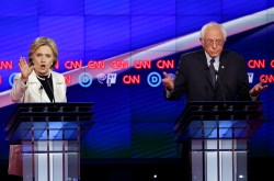 Captivating Democratic Presidential Candidates Bernie Andhillary Clinton Pa Primaries Who Won Debate Tonight Beto Or Cruz Who Won Ontario Debate Tonight Ny Sanders Spar Over Fracking Ahead