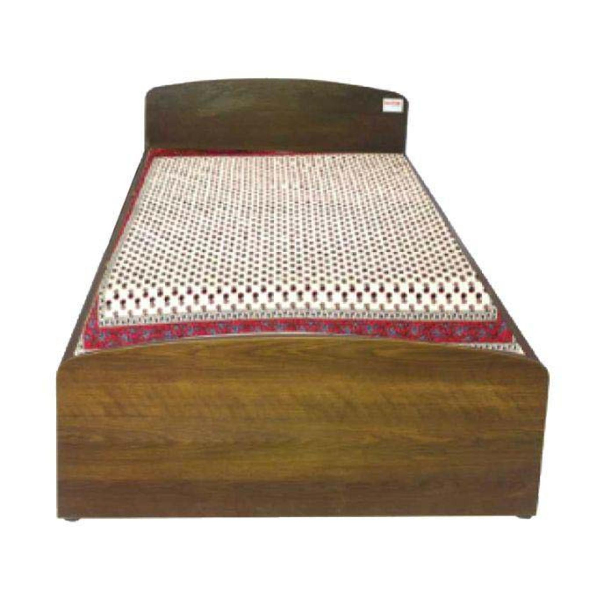 Hbsh 101 4 10 Laminated Board Single Bed Antique Buy Online At - Single Bed Price