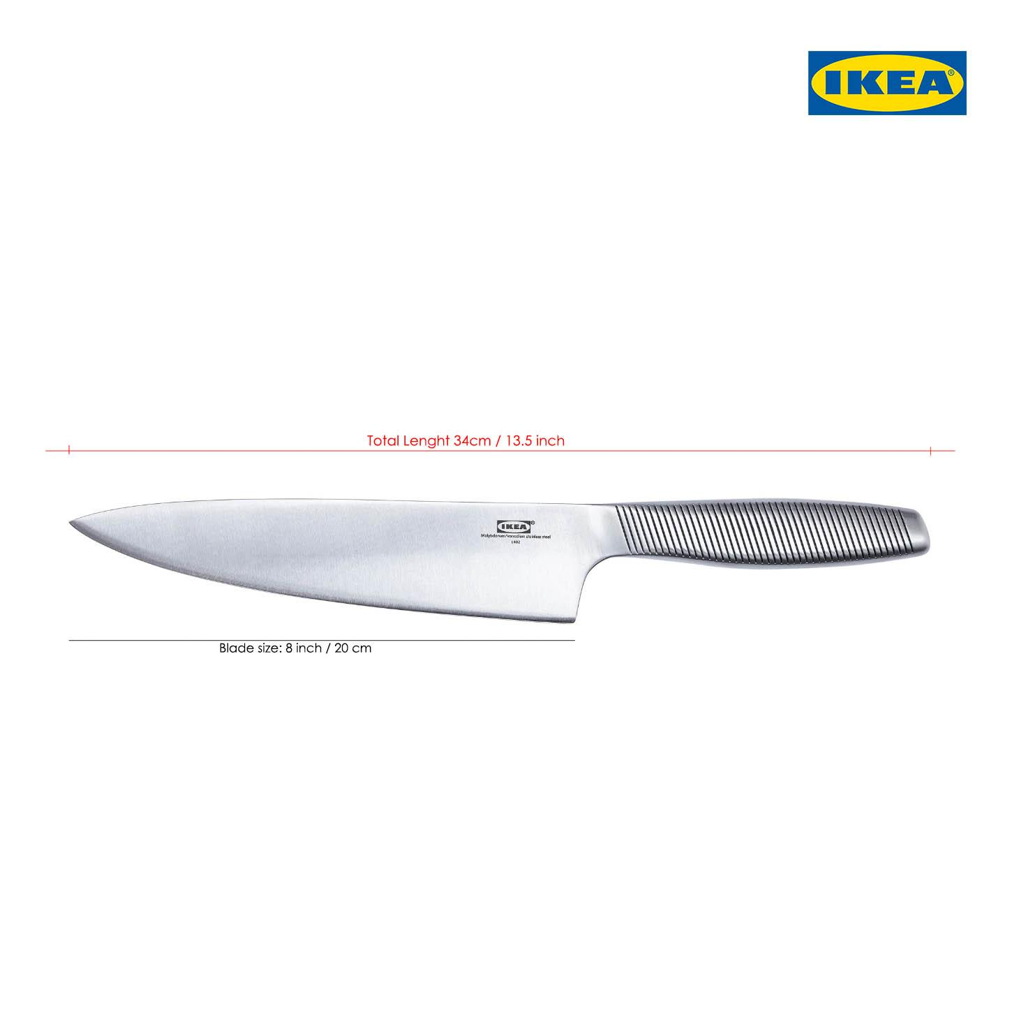 Ikea Küche 20cm Ikea 365 Chef Knife Pure Stainless Steel 20cm 8 Inch Made In Sweden Ikea