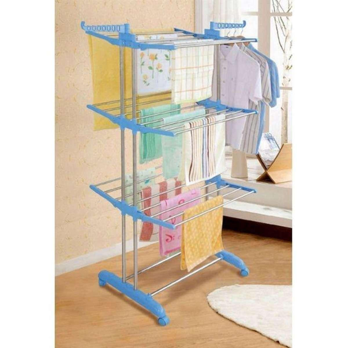 Cloth Hanger Stand Three Layer Cloth Drying Rack