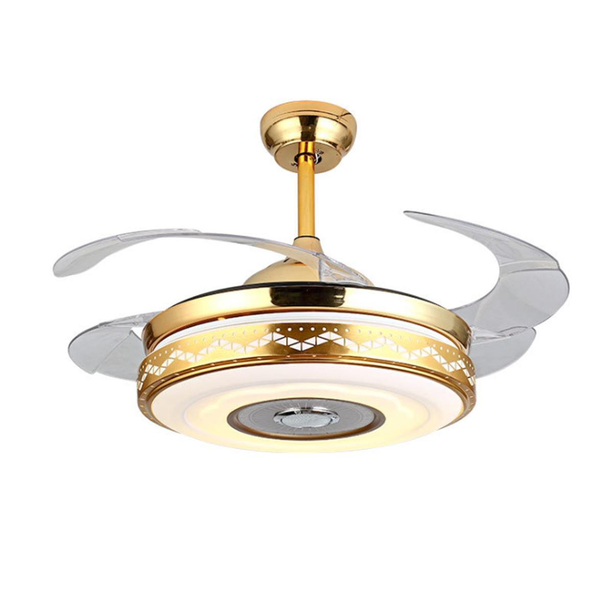 Ceiling Fan With Folding Blades 42 108cm 4 Folding Blade Ceiling Fan Led Lamp Chandelier With Light Remote