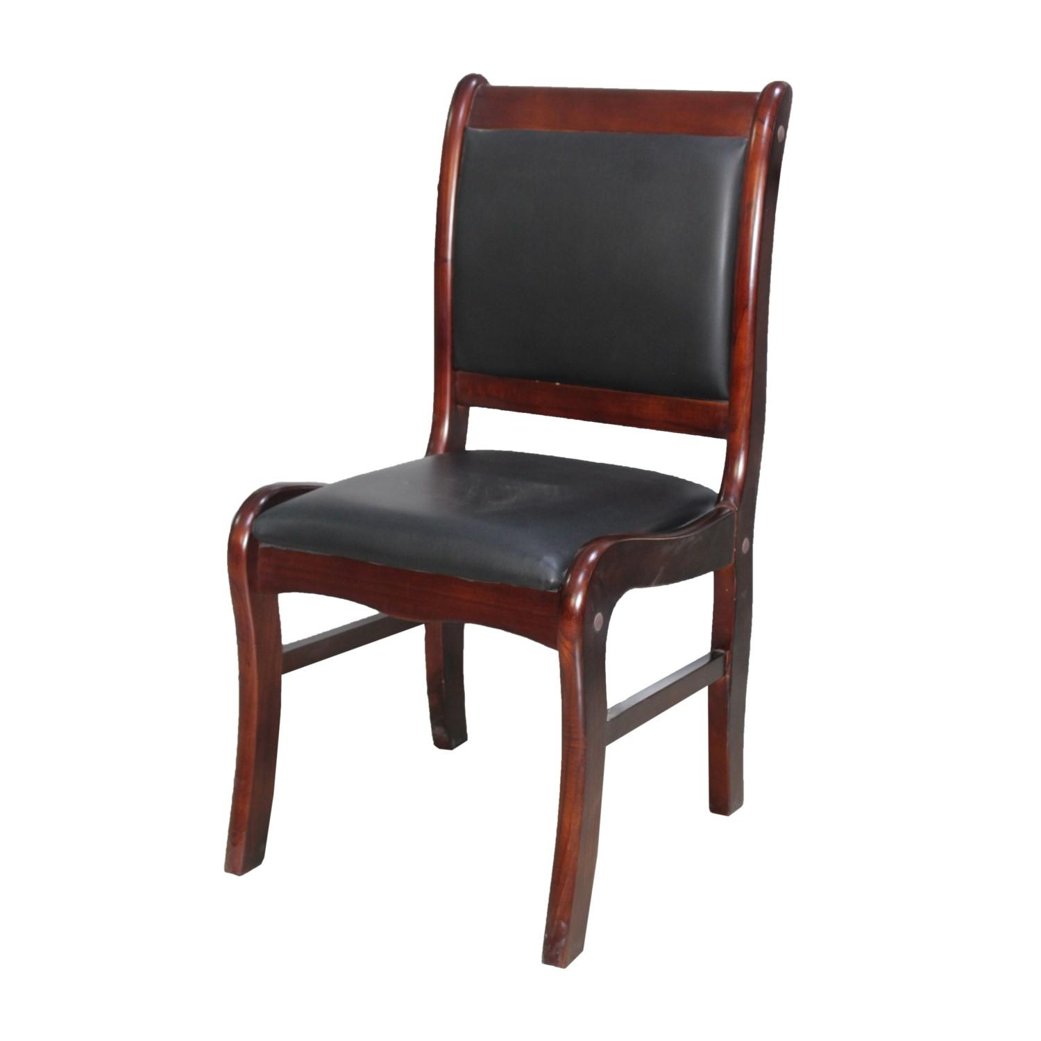 Chair Price Hx196 Padded Visitor Chair Brown Black