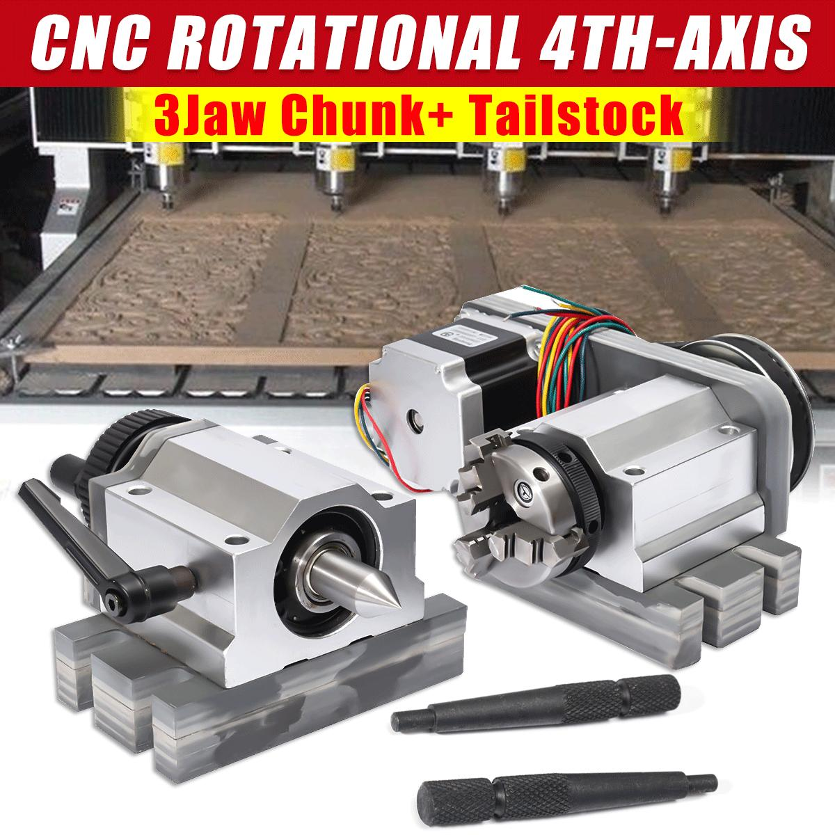 Cnc Router Rotational Rotary Axis A Axis 4th Axis 80mm 3 Jaw Chuck Tail Stock Buy Sell Online Best Prices In Srilanka Daraz Lk