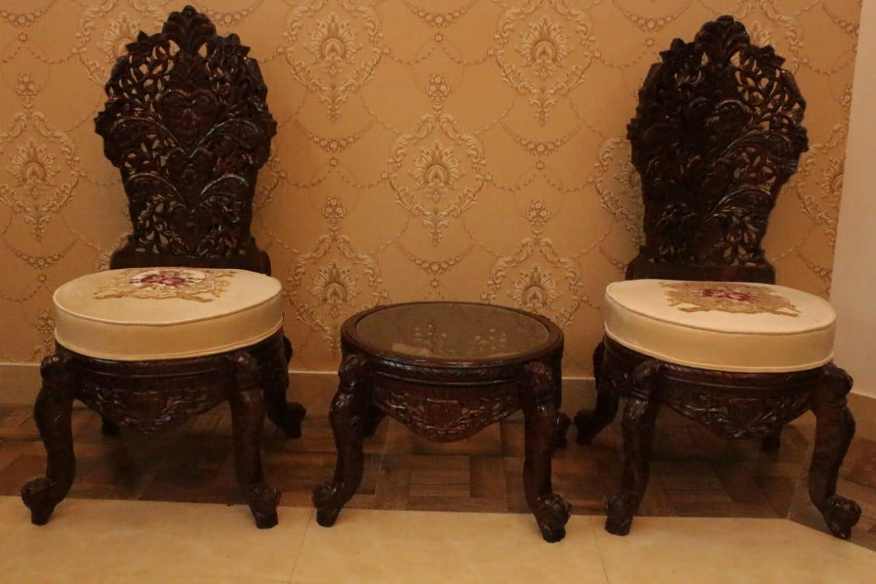 Sofa Set Used In Lahore Royal Chair Set With Table Pure Sheesham Wood