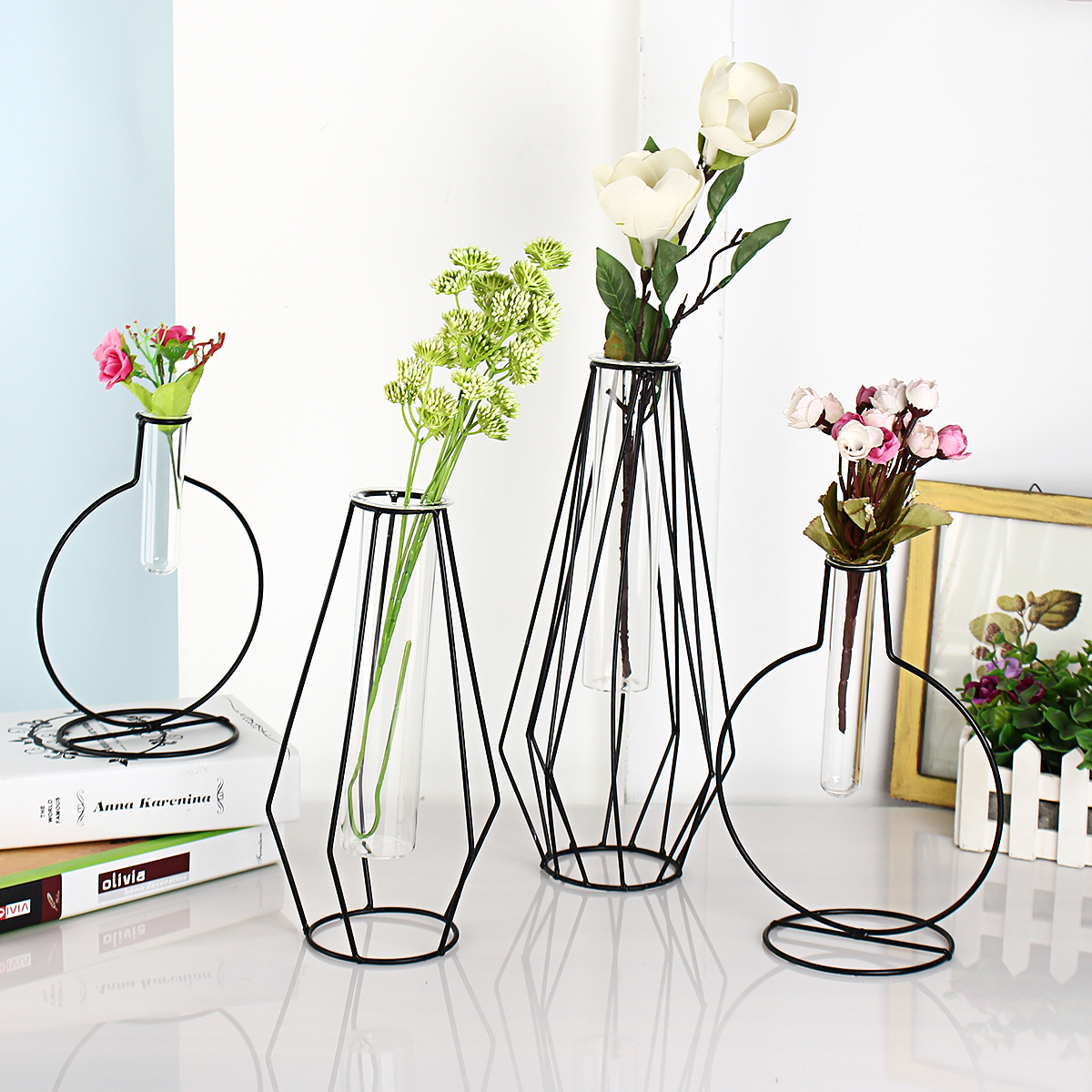 M Nordic Ins Household Ornaments Metal Iron Art Hydroponics Plant Glass Vase Nordic Vase Buy Online At Best Prices In Pakistan Daraz Pk