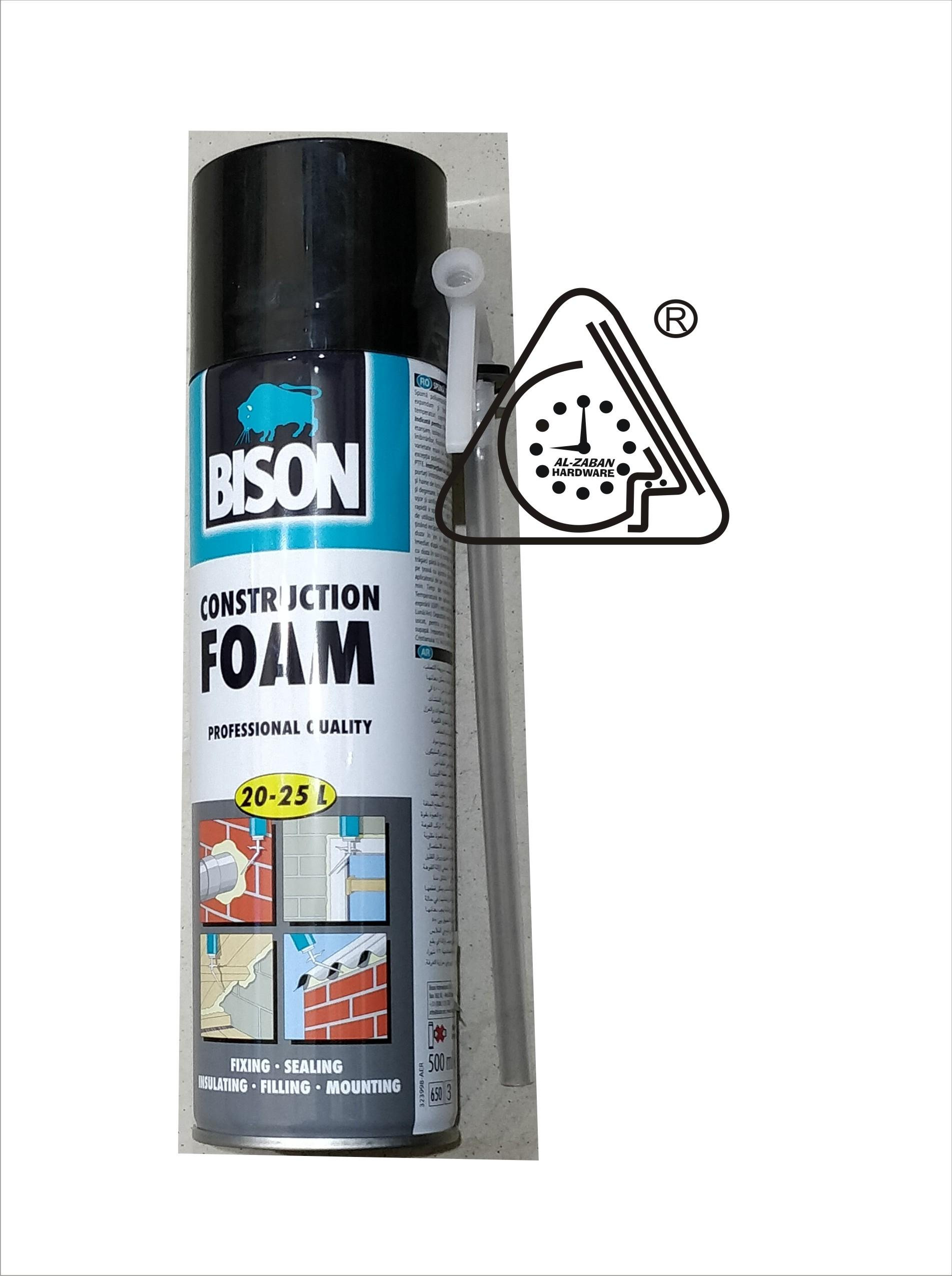 Bison Montagekit Super Construction Foam Bison 500 Ml Adhesive