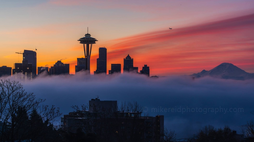 Seattle Washington Fall Skyline Wallpaper What Is The Dew Point And How Does Fog Form Komo