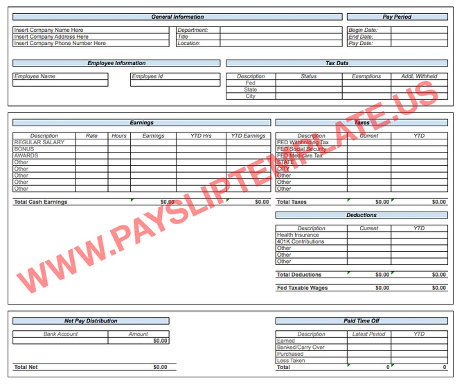south africa payslip template excel
