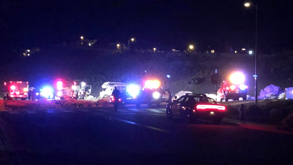 Police On Scene Of A Vehicle Accident In Northeast Reno