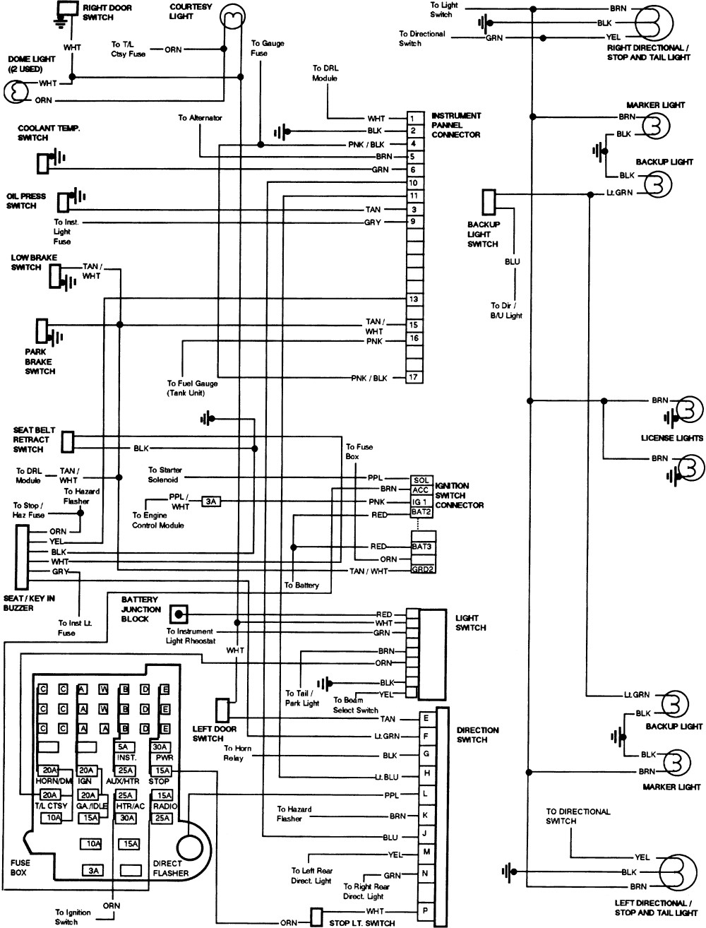 1990 Chevy Silverado Steering Column Wiring Diagram